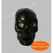 2 Bouchons valve Tête de mort Skull Noir moto custom Harley