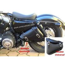 Sacoche de cadre Triangle pour moto custom Harley