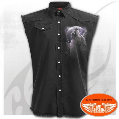 Chemise Jeans noire Loup Country.