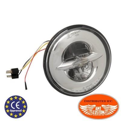 """Bloc Optique LED 14,5cm (5,75"""") parabole phare LED avec connecteur type H4"""