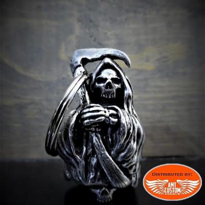 Clochette porte-bonheur skull reaper
