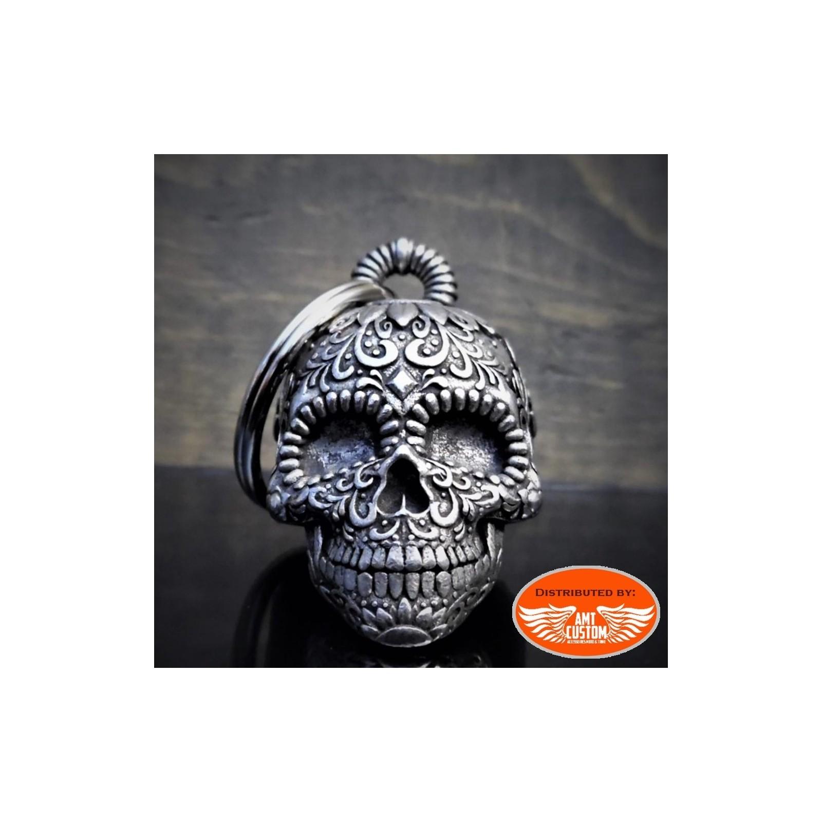Hells-Design Clochette t/ête de Mort Casque Porte-Bonheur