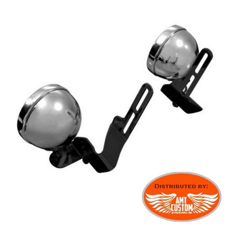 Mount Black Spotlight Bracket for Windshield Honda - Yamaha - Suzuki - Kawasaki
