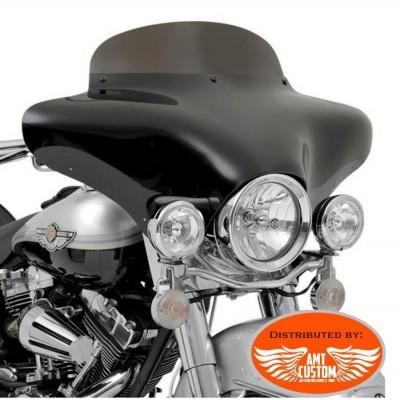 """Kawasaki Carénage """"Nez de Cochon"""" Pare-brise noir VN Vulcan Kit montage/démontage rapide"""