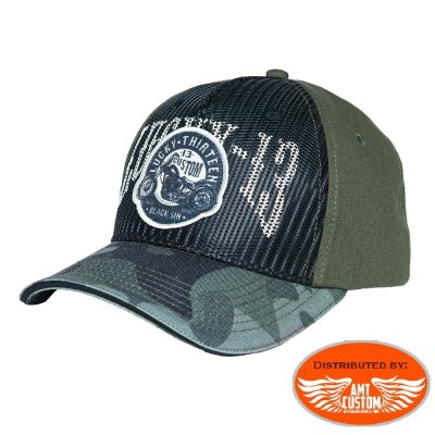 Lucky 13 military biker ball cap