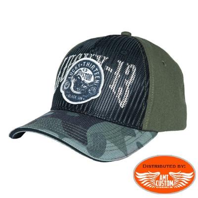 Lucky 13 military biker ball cap