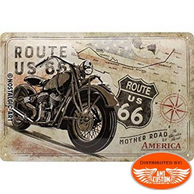 Metal sign original Road 66 US