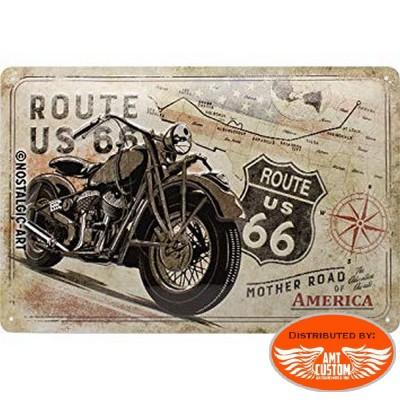 Plaque décorative Route 66 US vintage