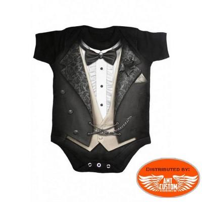 Bodysuit Baby Biker Tuxed.